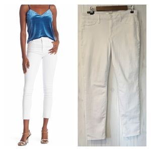 Joe's Jeans White Skinny Ankle Raw Hem Jeans NWT